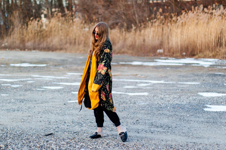 jogger pants, kimono, Mossimo, Mules